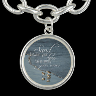 Sand Between Your Toes Beach Quote Bracelet