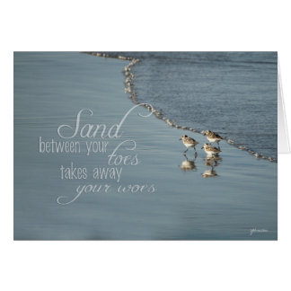 Sand Between Your Toes Beach Quote Card