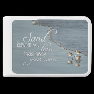 Sand Between Your Toes Beach Quote Charger