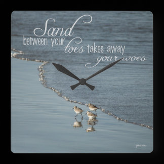 Sand Between Your Toes Beach Quote Clock /