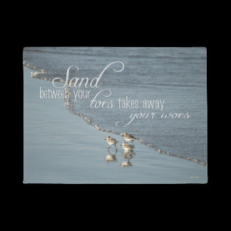 Sand Between Your Toes Beach Quote Doormat