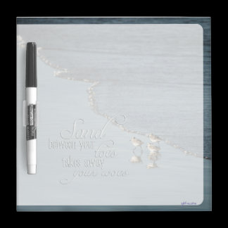 Sand Between Your Toes Beach Quote Dry Erase Board