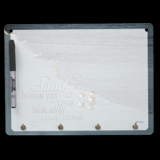Sand Between Your Toes Beach Quote Dry Erase Board With Keychain Holder