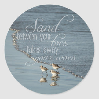 Sand Between Your Toes Beach Quote Envelope Seals