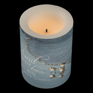 Sand Between Your Toes Beach Quote Flameless Candle