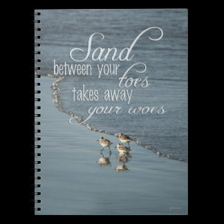 Sand Between Your Toes Beach Quote Journal /