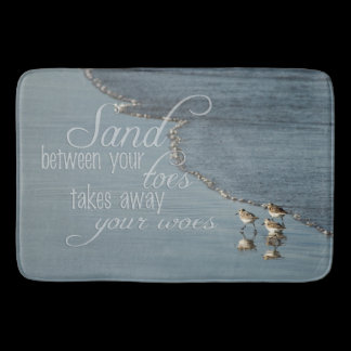 Sand Between Your Toes Beach Quote Kitchen Mat /