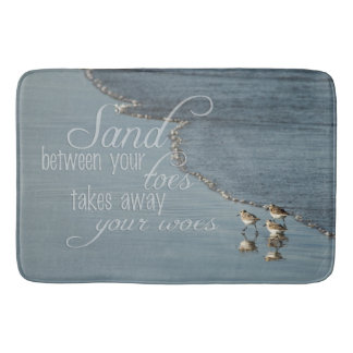 Sand Between Your Toes Beach Quote Kitchen Mat / Bathroom Mat