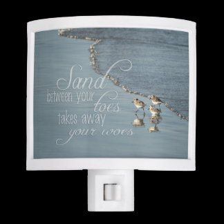 Sand Between Your Toes Beach Quote Night Light