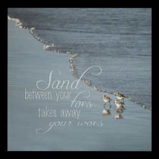 Sand Between Your Toes Beach Quote Panel Wall Art