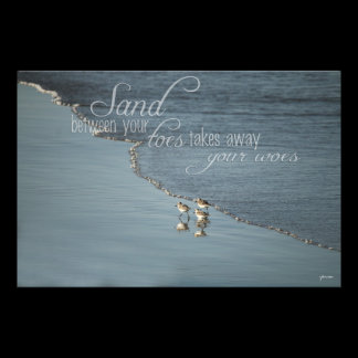 Sand Between Your Toes Beach Quote Photo Print