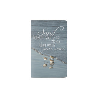 Sand Between Your Toes Beach Quote Pocket Moleskine Notebook