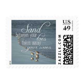 Sand Between Your Toes Beach Quote Postage