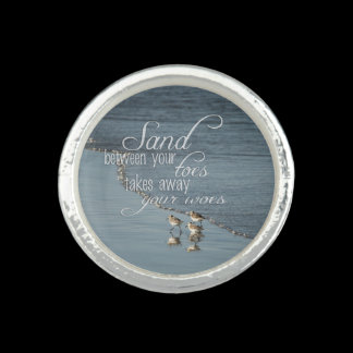 Sand Between Your Toes Beach Quote Rings