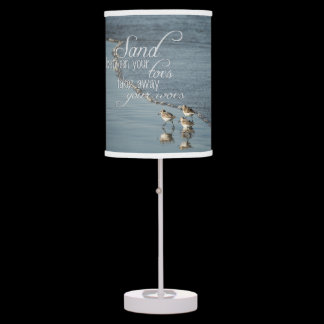 Sand Between Your Toes Beach Quote Table Lamp