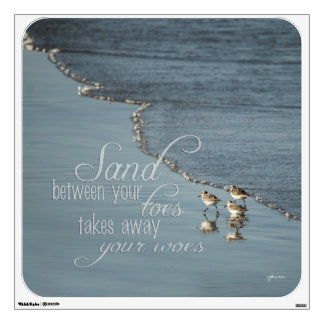 Beach Quotes Wall Decals  Wall Stickers Zazzle - Wall decals beach quotes