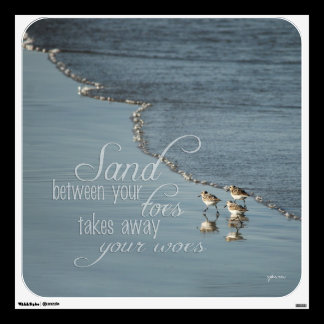 Sand Between Your Toes Beach Quote Wall Decal