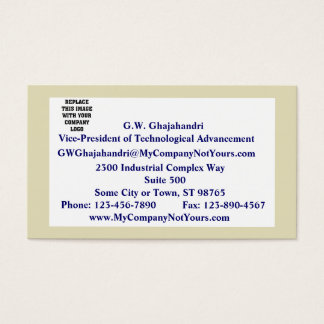 Sand Border Mission Statement Business Card