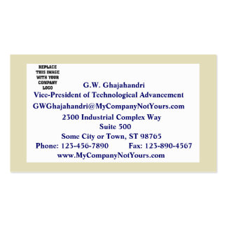 Sand Border Mission Statement Business Card