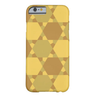 Sand Brown Star Optical Illusion Pattern Barely There iPhone 6 Case