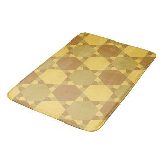 Sand Brown Star Optical Illusion Pattern Bath Mat