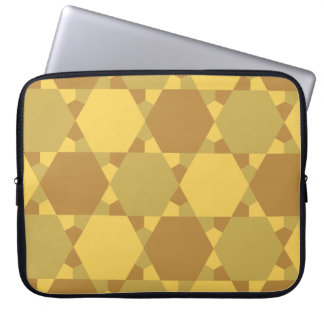 Sand Brown Star Optical Illusion Pattern Computer Sleeve