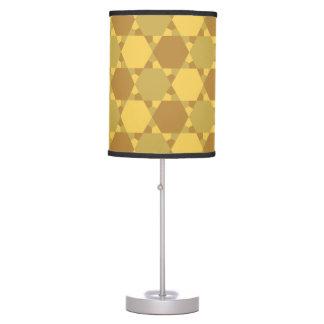 Sand Brown Star Optical Illusion Pattern Desk Lamp