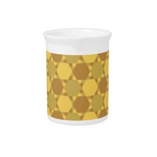 Sand Brown Star Optical Illusion Pattern Drink Pitchers