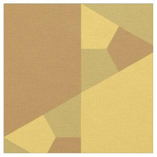 Sand Brown Star Optical Illusion Pattern Fabric