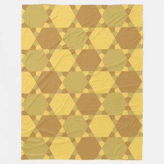 Sand Brown Star Optical Illusion Pattern Fleece Blanket