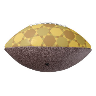 Sand Brown Star Optical Illusion Pattern Football