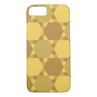Sand Brown Star Optical Illusion Pattern iPhone 7 Case