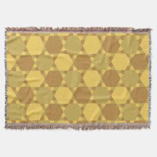 Sand Brown Star Optical Illusion Pattern Throw Blanket