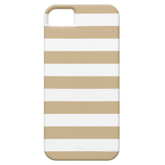 Sand Brown Summer Stripes iPhone 5/5S Case