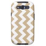 Sand Brown Zigzag Chevron Samsung Galaxy S3 Case