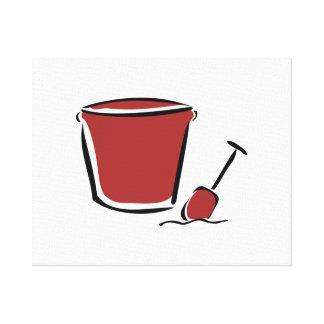 Sand Bucket and Shovel Canvas Prints