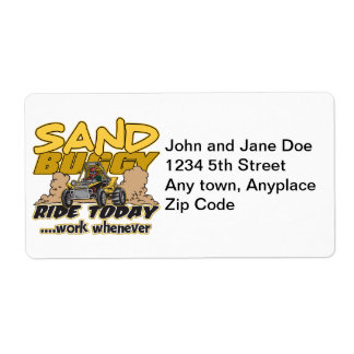 Sand Buggy Ride Today Personalized Shipping Label