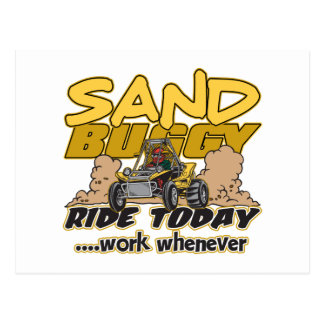 Sand Buggy Ride Today Postcard
