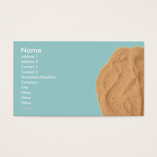 Sand Business Card