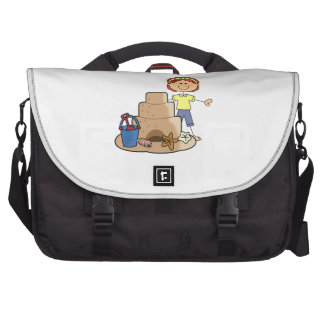 SAND CASTLE AND GIRL BAG FOR LAPTOP