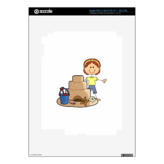 SAND CASTLE AND GIRL SKINS FOR iPad 3