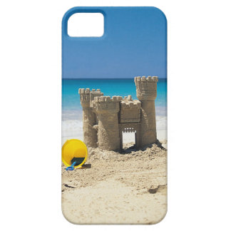 Sand Castle And Pail On Tropical Beach iPhone SE/5/5s Case