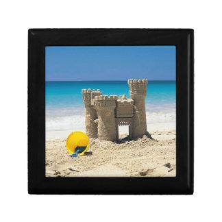 Sand Castle And Pail On Tropical Beach Keepsake Box