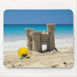 Sand Castle And Pail On Tropical Beach Mouse Pad