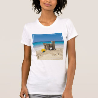Sand Castle And Pail On Tropical Beach T-Shirt