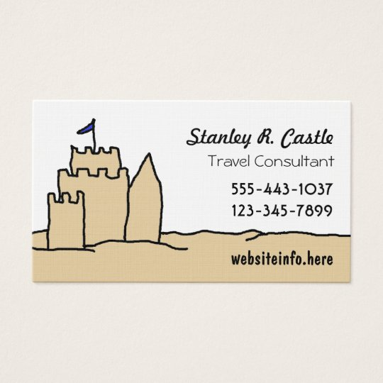 Sand Castle Art Business Cards