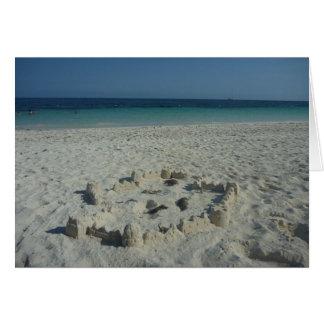 sand castle bahamas greeting card