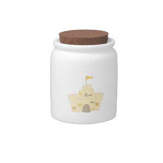 Sand Castle Candy Jars