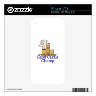Sand Castle Champ Decal For The iPhone 4