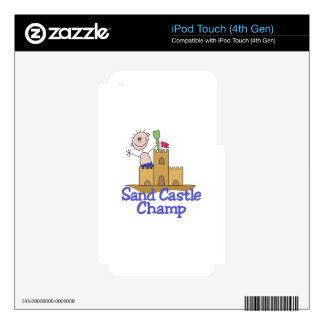 Sand Castle Champ iPod Touch 4G Skin